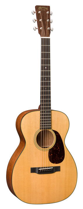 "Standard Series 0-18E Acoustic/Electric Guitar A welcome addition to the Standard Series, the new 0-18 has a scallop-braced Sitka spruce top with mahogany back and sides that serve as the foundation for this concert sized model.  The combination of a short expressive 24.9` scale with a modified low oval neck shape and the high performance parallel taper allows for easy action and fast playability.  Open geared nickel tuners with phosphor bronze strings and an ebony fingerboard and bridge complete the look of this classic parlor guitar.<br><br>Specifications Overview<br>Body Size: 0-14 Fret<br>Finish Top: Gloss<br>Construction: Dovetail Neck Joint<br>Back & Side Finish: Gloss<br>Bracing Pattern: X-Brace<br>Scale Length: 24.9""<br>Brace Shape: Scalloped X with Non-Scalloped Tone Bars<br>Fingerboard Width At Nut: 1 3/4``<br>Top Material: Sitka Spruce<br>Neck Shape: Modified Low Oval<br>Back Material: Genuine Mahogany<br>Neck Taper: High-Performance Taper<br>Side Material: Genuine Mahogany<br>Electronics: Optional<br>Recommended Strings: Authentic Acoustic Lifespan® 2.0 Light - 92/8 Phosphor Bronze MA540T<br>Electronics: Fishman Infinity Matrix<br><br>Top<br>Top Color: Aging Toner<br>Bridge Style: Modern Belly - Drop in Saddle<br>Binding: Faux Tortoise<br>Bridge String Spacing: 2 5/32""<br>Top Inlay Material: Multi-Stripe<br>Bridge Material: Ebony<br>Top Detail: None<br>Bridge Pin Material: Black Plastic<br>Pickguard: Tortoise Pattern<br>Bridge Pin Dots: None<br>Pickguard Inlay: None<br>Saddle: Compensated Bone<br>Rosette: Old Style 18 Multi-Stripe<br>Saddle Radius: 16""<br><br>Body<br>Brace Material: Sitka Spruce<br>Back & Sides Color: Dark Mahogany<br>Brace Size: 1/4""<br>Back Detail: None<br>Back Purfling Strip: Style 18<br>Back Inlay Material: None<br>Heelcap: Faux Tortoise<br>Side Detail: None<br>Endpiece: Faux Tortoise<br>Side Inlay Material: None<br>Endpiece Inlay: None<br><br>Neck<br>Neck Material: Select Hardwood<br>Fingerboard Material: Ebony<br>Finish Neck: Satin<br>Fingerboard Width at 12th Fret: 2 1/8``<br>Neck Color: Dark Mahogany<br>Fingerboard Inlay Style: Old Style 18<br>Number of Frets Total: 20<br>Fingerboard Inlay Material: Abalone<br>Neck Joins Body At: 14th Fret<br>Fingerboard Binding Material: None<br>Side Dots: White<br><br>Headstock<br>Headstock Shape: Solid with Square Taper<br>Tuning Machines: Nickel Open Gear<br>Headplate Material: East Indian Rosewood<br>Knob: Butterbean<br>Headplate Logo Style: Script Old Style Overlay<br>Nut Material: Bone<br>Headplate Binding Material: None<br><br>Misc<br>Case: Ply Hardshell<br>Left Handed Availability: Yes<br>Label: None<br>Pleked: Yes<br>"